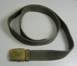 Broekriem met messing sluiting Solid Brass US officer - 95 cm. - origineel