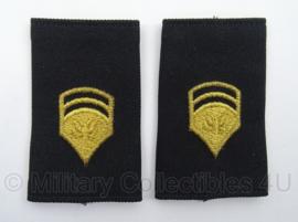 US Army schouder epauletten - rangen onbekend - afmeting 5 x 9 cm - origineel