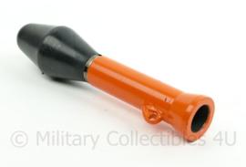 Koninklijke Marine en Nederlandse Leger FAL geweer opzetstuk voor schieten lijn naar ander schip - oranje/zwart 21 x 4,5 x 3,5 cm - origineel