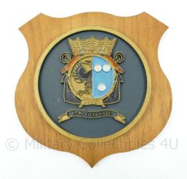 "Koninklijke Marine wandbord - ""Hr. Ms. Tjerk Hiddes"" - afmeting 15,5 x 15,5 x 1,5 cm - origineel"