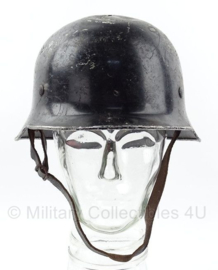 WO2 Duitse polizei en Feuerwehr helm met 1934 bestempeld  -  maat 56  -  origineel WO2