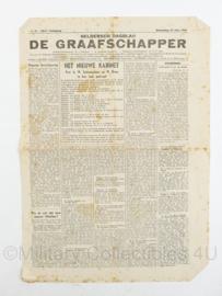 krant Geldersch dagblad De Graafschapper van 25 juni 1945 - origineel