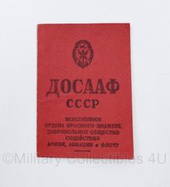 USSR Russisch leger lidmaatschapsboekje DOSAAF  - goede staat - 10,5 x 7 cm -  origineel