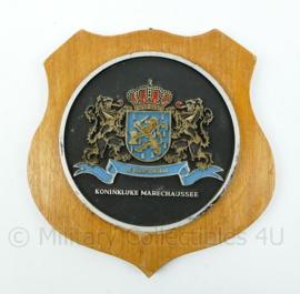 "KMAR Koninklijke Marechaussee wandbord - ""Je Maintiendrai"" - afmeting 15,5 x 15,5 x 1,5 cm - origineel"