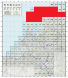 KL Nederlandse leger topografische stafkaart 1:50000 - nr. 1 t/m 10 - op rol - 60 x 60 cm - origineel