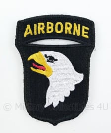 US Army 101st Airborne embleem - oorlogs model en materiaal, maar MET klittenband - 8,5 x 6 cm