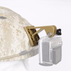 Kunststof helmet mount Helmsteun voor GOPRO actioncam camera voor MICH FAST helm - COYOTE (zonder helm)