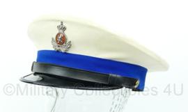 Platte pet van de Koninklijke Marechaussee witte zomer tenue pet - Maat 59 - Origineel