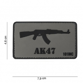 Embleem 3D PVC - met klittenband -  AK47 Kalshnikov patch - 7,9 x 4,6  cm