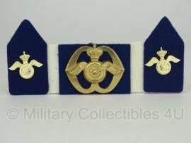 KL baret speld en kraagspiegel set - Aan- en afvoertroepen - origineel