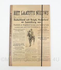 Belgische nieuwe verzamelband uitgave van oorlogse krant 'Het laatste nieuws' - 49 x 33 cm - origineel