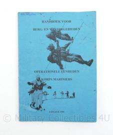 Handboek voor berg- en wintergebieden operationele eenheden Korps Mariniers - uitgave 1999 - 20,5 x 14,5 x 0,5 cm - origineel