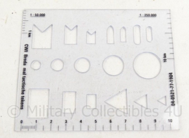 KL Landmacht CWI Breda mal met tactische tekens - 9 x 11 cm - origineel