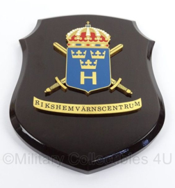 Zweedse leger wandbord - afmeting 15 x 20 cm - origineel