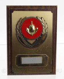 KL Koninklijke Landmacht luxe wandbord Infanterie - nog zonder naam - 13 x 18 cm - origineel