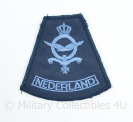 Koninklijke Luchtmacht arm embleem NEDERLAND - 8 x 7 cm - origineel