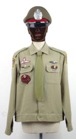 Uniform set Thailand, jasje, stropdas en pet - Zeldzaam - maat Large- origineel