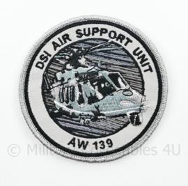 DSI Air Support Unit AW 139 embleem - met klittenband - 9 cm. diameter