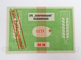Duits LPG DDR Scherkondequell Sachsenhausen - 20 Mark - origineel