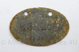 WO1 Duits Erkennungmarke vroeg model RIR 264 Reiter Infanterie Regiment 264 - afmeting 3 x 5 cm - origineel