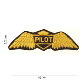 Pilot chest wing patch 10 x 3,2 cm diameter