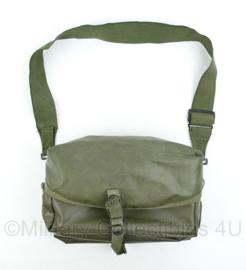 Nederlands leger geneeskundige dienst - medische draagtas - rubberized groen - 20x30x10cm - origineel