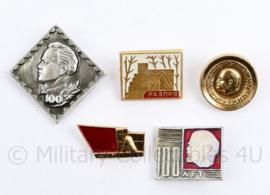 Russische USSR spelden set met Lenin - set van 5 stuks - origineel