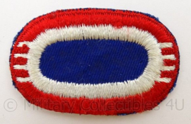 US Army 82nd Airborne Division, 4th Battalion Oval wing/parawing voor op de borst - Vietnam net naoorlogs en later - afmeting 6 x 3,5 cm - origineel