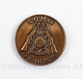 Korps Mariniers mini speld afdeling Tilburg - COMsv Contact Oud Mariniers Schiet Vereniging - doorsnede 2 cm - origineel