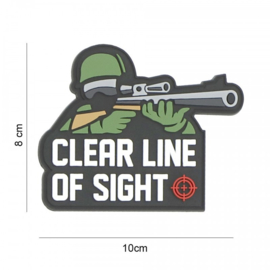 Embleem Clear line of sight - met klittenband - 3D PVC - 8 x 10 cm