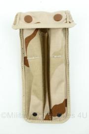 KL Nederlandse Leger magazijntas voor 2 uzi magazijnen (1993) - 23 x 11 x 4 cm - desert camo - gebruikt - topstaat - origineel