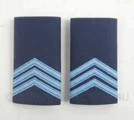 KLu Luchtmacht epauletten rang Sergeant - per paar - afmeting 5 x 10 cm -  origineel