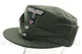 Duits replica Heer officiers M43 pet MET zilveren bies en insignes - meerdere maten