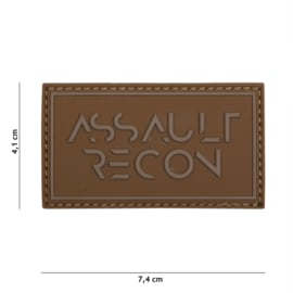 Embleem 3D PVC Assault Recon - COYOTE - 7,4 x 4,1 cm