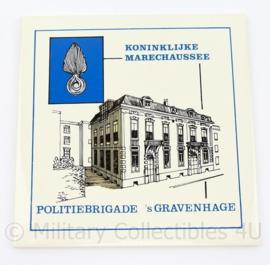 Kmar Koninklijke Marechaussee Politiebrigade 'S Gravenhage wandtegel - 15 x 15,5 cm - origineel