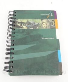 KL Nederlandse leger boek materieellijst - origineel