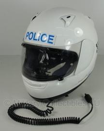 Britse politie motorhelm - merk Aral Astro-R  nr. 6 - maat 59/60 of 61/62