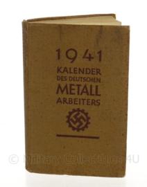 WO2 Duitse DAF Arbeitsfront zakkalender boekje van metallarbeiters  1941 - origineel