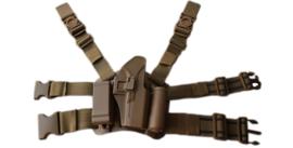 Drop leg Beenholster Glock 17 Rechts CQC Serpa  - Dark Coyote