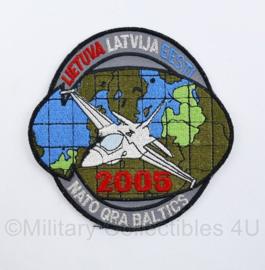 Luchtmacht embleem Nato QRA baltics Lietuva Latvija EESTI - met klittenband -  diameter 10 cm - origineel