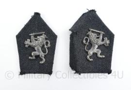 Nederlandse Douane of ambtenaar jaren 50 kraaginsignes - 7,5 x 4 cm - origineel
