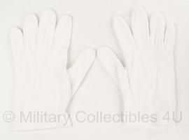 KL Nederlandse leger parade handschoenen wit - licht gebruikt - maat 9,5 - origineel