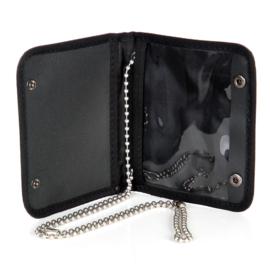 ID-kaart houder zwart met ketting groot - 11 x 9 cm
