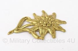 Duitse WO II Edelweiss pet insigne goud - replica