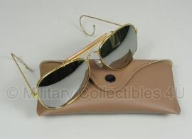 US Air Force USAF zonnebril met hoes - Gespiegeld glas