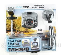 Nieuwe NorTec Dual car camera set - with parking mode - front and rear - nieuw in de verpakking ! -  origineel
