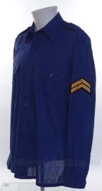 """Nederlandse Brandweer overhemd LANGE MOUW - rang """"brandwacht 1ste klasse"""" - maat 41 - origineel"""