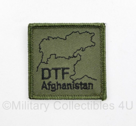 Defensie borst eenheid embleem DTF Afghanistan Deployment Task Force  - met klittenband - 5 x 5 cm -  origineel