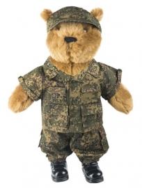 Teddybeer groot 50cm met Russisch flora camo uniform