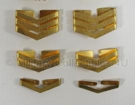 Rijkspolitie te Water schouderrangen - goud - metaal - per set - origineel